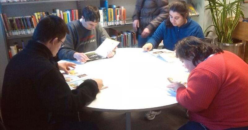 De visita a la biblioteca