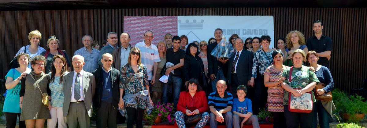 Entrega del Premi Ciutat de Sant Adrià a Manuel López