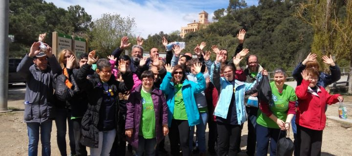 Buen día de voluntariado corporativo en Collserola