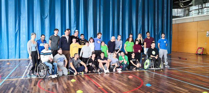 Aprodisa participa en unas jornadas de deporte adaptado