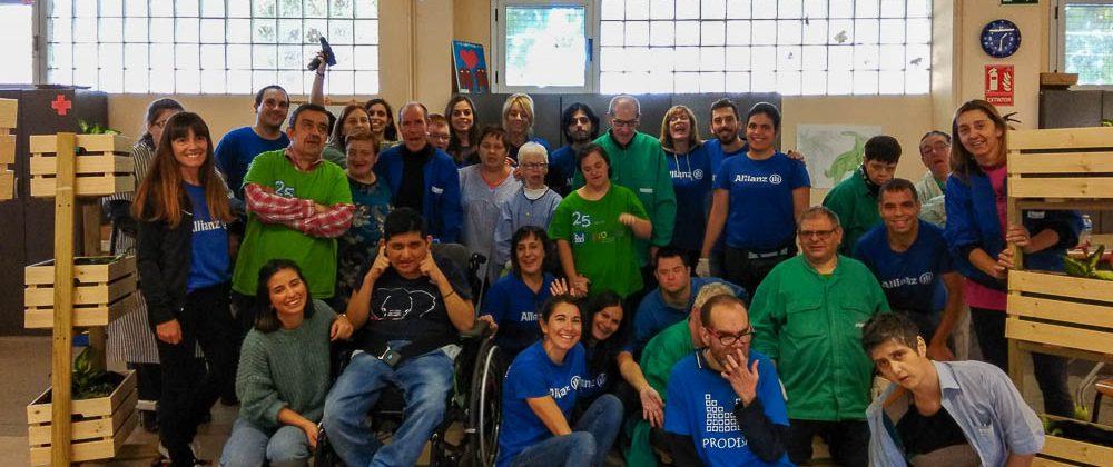 Actividad conjunta con voluntarios de Alliance